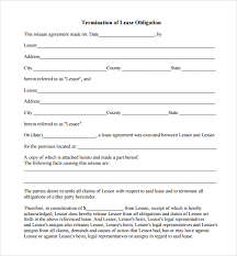 Lease Termination Agreement Template 8 Lease Termination Form