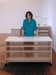 art studio desk for making art and storing art