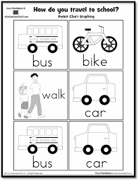 How Do You Travel To School Pocket Chart Graphing Printable