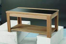 open cabinet ashleigh oak finish and black glass top coffee table by lpd