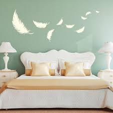 Schlafzimmer Wandgestaltung Beispiele Wunderbar On Und Wandtattoo Deko  Federn Feder 55x144cm Quill 14