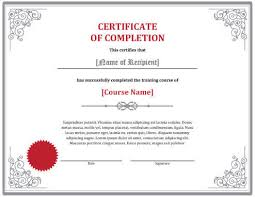 Certificate Of Completion Templates Sample Certificates Of Completion Certificate Of Completion