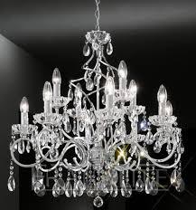 franklite chiffon polished chrome 12 light crystal chandelier