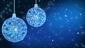 Christmas Decorations On Blue Background With Copy Space. Loop-ready. Stock  Footage Video 7966189 | Shutterstock