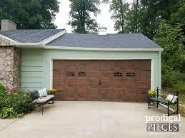 wooden garage doorsRefresh Old Wood Easily Faux Wood Garage Door Update  Prodigal