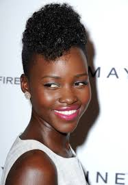 The Weekend Hair Style lupita nyongo styles her hair into a curly pompadour glamour 4319 by wearticles.com
