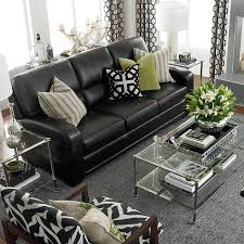 office seating decorating ideas for living room with black leather sofa black leather sofa office