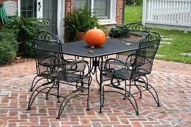 wrought iron furniture refinishing best painted patio furniture