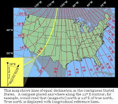 Magnetic Declination Chart About Declination