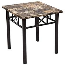 marble top end tables. Adeco Side/End Table, Faux Marble Top, Black Metal Base, Top End Tables