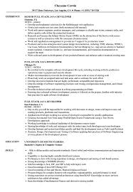Full Stack Java Developer Resume Samples Velvet Jobs