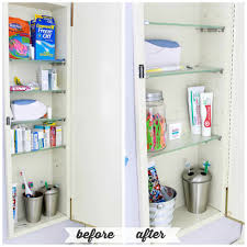 bathroom vanity organization. High/Low Bathroom Cabinet Organization | JustAGirlAndHerBlog.com Vanity A