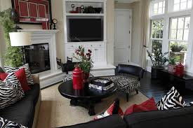 image of black and white living room decorating ideas