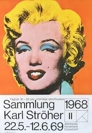 vintage painting 1969 original german exhibition poster marilyn monroe andy warhol by andy