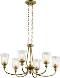 kichler 43947nbr waverly contemporary natural brass chandelier lamp loading zoom