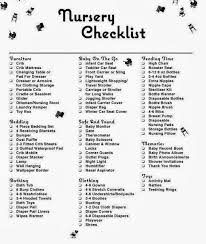 Baby Room Checklist Cool Inspiration Ideas