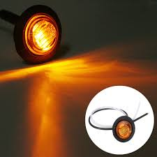 Led Button Lights 10pcs Mini 12 24v Amber Round Led Button Side Marker Lights Lamps Trailer