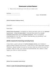 Complaint Format Letter Format For Complaint Sample Copy Proper Plaint Letter Format 22