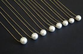 delicate white pearl necklace single pearl bridesmaid necklace 14k gold fill sterling silver floating pearl necklace bridesmaid jewelry