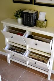 Small space organization hemnes shoe cabinet 5