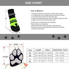 Magic Zone Waterproof Dog Shoes Weave Dog Boots Reflective Straps And Anti Slip Sole Fluorescent Green 4pcs