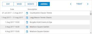 Agenda List Agenda View Scheduler Docs