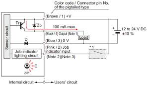 compact size picking sensor na pk i o circuit and wiring pnp output type i o circuit diagram