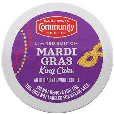 Community coffee mardi gras king cake coffee is seasonal. Amazon Com Community Coffee Mardi Gras King Cake Flavored 36 Count Coffee Pods Medium Roast Compatible With Keurig 2 0 K Cup Brewers 12 Count Pack Of 3 Grocery Gourmet Food