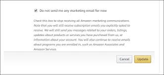 Email Me How To Stop All Of Amazons Many Many Emails
