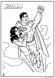 Small Picture Superman Coloring Pages Printable Free