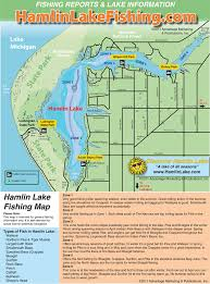 Lake Mi Depth Chart Hamlin Lake Hamlin Lake Fishing Map