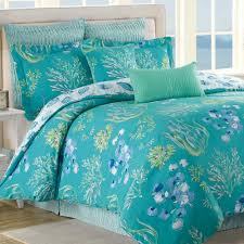 Coastal Bedding, Comforters, Quilts, Bedspreads | Touch of Class & Beachcomber 8 pc Comforter Bed Set Turquoise Adamdwight.com