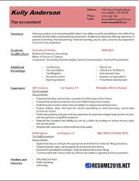 Resume Format 2018 Beauteous Accounting Resume Examples 28 Kenicandlecomfortzone