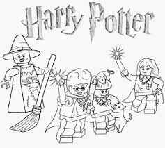 Awesome Collection Of Reduced Easy Harry Potter Coloring Pages Print