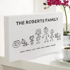 custom gift for fathers day personalized stick family wall art on personalised wall art gifts with chatterbox walls the home of personalized prints canvases