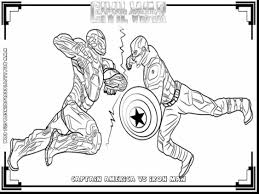 Small Picture Captain America Civil War Coloring Pages FunyColoring