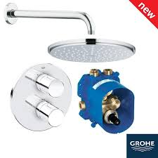 grohe grohtherm 3000 cosmopolitan rainshower biv shower solution pack 1 118320