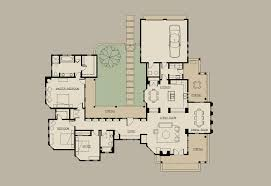 floor courtyard house plans c shaped with interior