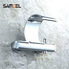 wall mount bathtub faucet bathroom mounted bath waterfall mixer shower exposed valve bottom brass oil rubbed bronze