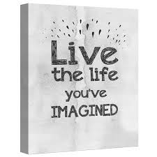 ptm images live the life you ve imagined 16x20 decorative canvas wall on live the life you imagined wall art with ptm images live the life you ve imagined 16x20 decorative canvas