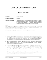fire chief resume sample examples - Fire Chief Resume Examples
