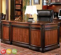 appealing 3 piece executive desk bookcase file cabinet two tone wood new coaster elegant office used office desk furniture