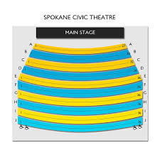 Civic Theater Seating Chart Spokane Civic Theatre 2019 Seating Chart