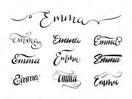 Jméno A Příjmení Tetování Emma Stock Vektor Andrewrybalko