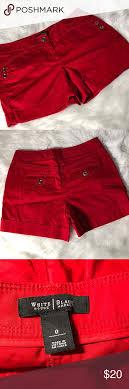 Whbm Red Stretch Shorts Whbm White House Black Market Red