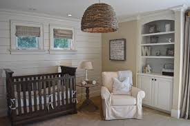 gender neutral nursery for a beach style nursery with a basket pendant lights and warwick newport