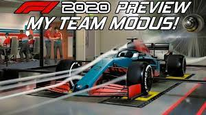 Das auto ist vorne und der fahrer stützt seine hände auf die schultern des autos. Myteam Modus Analysiert F1 2020 Preview Formel 1 2020 Gameplay German Youtube