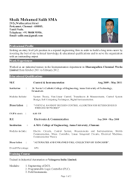 Electrical Engineering Student Resume  electrical engineering     Than       CV Formats For Free Download