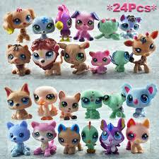 <b>24pcs</b> Set <b>Littlest Pet Shop Lot</b> Animal Hasbro <b>LPS</b> Figure Toy Dog ...