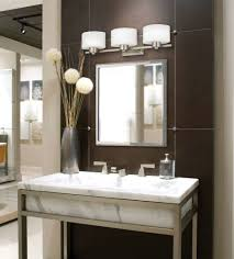 contemporary bathroom lighting fixtures. Breathtaking Contemporary Bathroom Lighting Fixtures Modern Vanity Light Brown Wall And Lamps On Mirror S